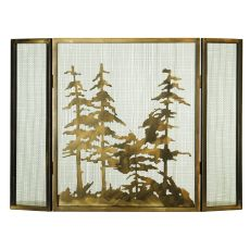 "36"" W X 26"" H Tall Pines Fireplace Screen"