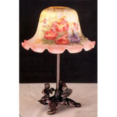 """10"""" H Morning Glory Candle Lamp"""