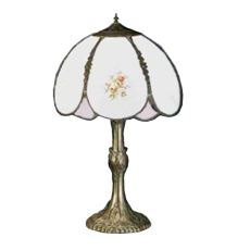 """22"""" H Roses Hand Painted Table Lamp"""