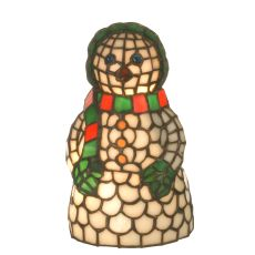 "8.5"" H Snow Woman Accent Lamp"