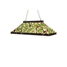"29"" L Acorn & Oak Leaf Oblong Pendant"