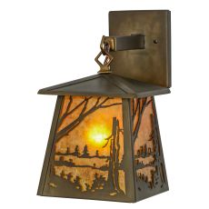 """7"""" W Quiet Pond Hanging Wall Sconce"""