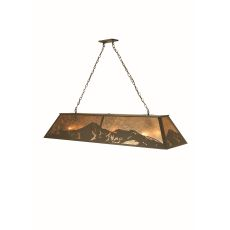 "60"" L Mountain Range Oblong Pendant"