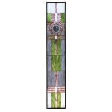 """15.25"""" W X 83.75"""" H Maxfield Parrish Custom Stained Glass Window"""