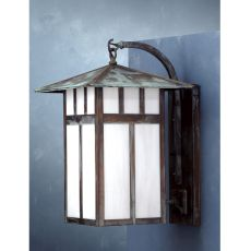 """15"""" W Seneca Double Bar Mission Curved Arm Wall Sconce"""