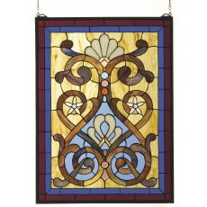 "20"" W X 27"" H Hinterland Stained Glass Window"
