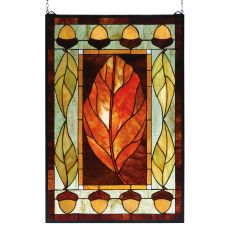 "21"" W X 31"" H Harvest Festival Stained Glass Window"