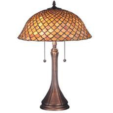 "23.5"" H Tiffany Fishscale Table Lamp"