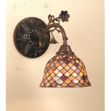 "8"" W Tiffany Fishscale Wall Sconce"
