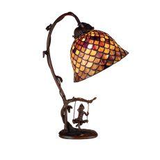 "15"" H Tiffany Fishscale Accent Lamp"