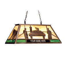 """33"""" L Personalized Pool Hall Oblong Pendant"""