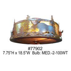 """18.5"""" W Moose At Dusk Flushmount"""