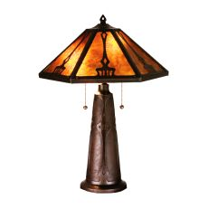 """25"""" H Grenway Amber Mica Table Lamp"""
