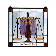 """18"""" W X 18"""" H Personalized Judicial Stained Glass Window"""