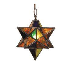 "9"" W Moravian Star Mini Pendant"