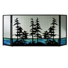 "72"" W X 32"" H Tall Pines Fireplace Screen"