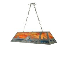 "48"" L Leaping Bass Oblong Pendant"