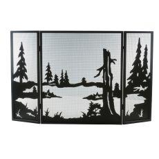 "52"" W X 32"" H Quiet Pond Fireplace Screen"