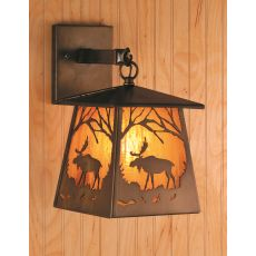 """7.5"""" W Moose At Dawn Hanging Wall Sconce"""