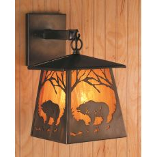 """7.5"""" W Grizzly Bear At Dawn Hanging Wall Sconce"""