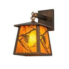 """7"""" W Whispering Pines Hanging Wall Sconce"""