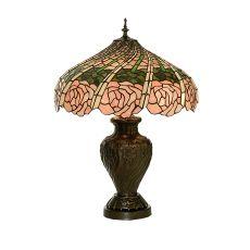 "24"" H Rose Swirl Table Lamp"