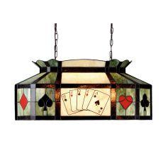 "33"" L Texas Hold'Em Oblong Pendant"