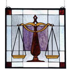 "18"" W X 18"" H Judicial Stained Glass Window"