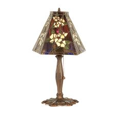 "18.5"" H Oriental Peony Accent Lamp"