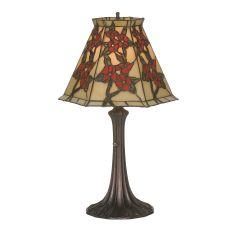 "19"" H Oriental Peony Accent Lamp"
