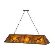 "61"" L Ducks In Flight Oblong Pendant"