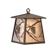 "7.5"" W Whispering Pines Lantern Wall Sconce"