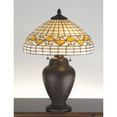 "23.5"" H Tiffany Acorn Table Lamp"