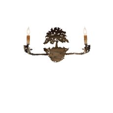"23"" W Oak Tree 2 Lt Wall Sconce"
