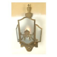 """12"""" W Theatre Mask Wall Sconce"""