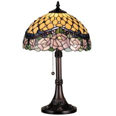 """19.5"""" H Jeweled Rose Table Lamp"""