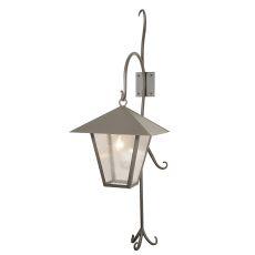 """18"""" W Vine Lantern Shepherd'S Hook Outdoor Wall Sconce"""