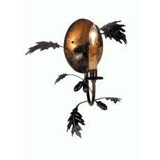 "11"" W Oak Leaf & Acorn Wall Sconce"