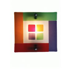 """12"""" W Metro Fusion Psychedelic Baby Wall Sconce"""