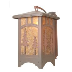 """23.5"""" W Tall Pines Curved Arm Wall Sconce"""