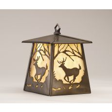 """7.5"""" W Deer At Dawn Hanging Wall Sconce"""