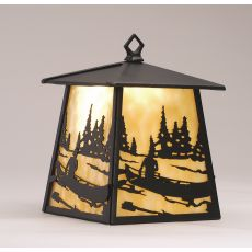 "7.5"" W Canoe At Lake Hanging Wall Sconce"