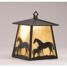 """7.5"""" W Mare & Foal Hanging Wall Sconce"""