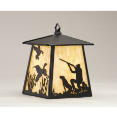 """7.5"""" Sq Duck Hunter W/Dog Hanging Wall Sconce"""