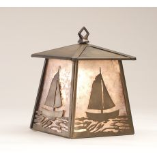 "7.5"" W Sailboat Hanging Wall Sconce"