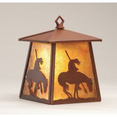 """7.5"""" W Trail'S End Hanging Wall Sconce"""