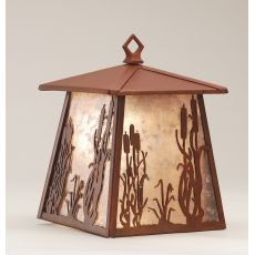 """7.5"""" W Reeds & Cattails Hanging Wall Sconce"""