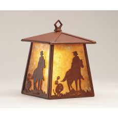 """7.5"""" W Cowboy Hanging Wall Sconce"""