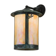 """12"""" W Fulton Dragonfly Solid Mount Wall Sconce"""