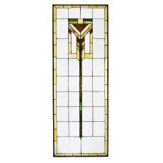 """24"""" W X 67"""" H Prairie Stained Glass Window"""